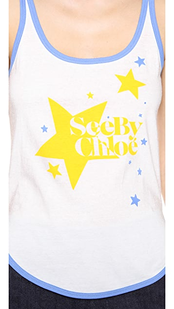 See by Chloe Stardust Print Tank
