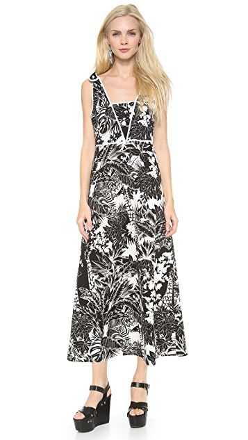 See by Chloe V Neck Dress with Shoulder Ties