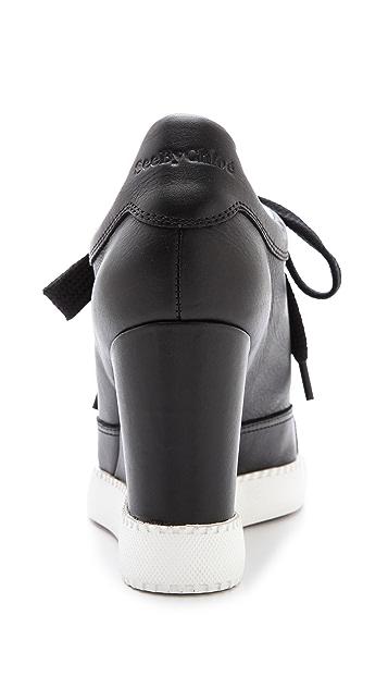 See by Chloe Wedge Sneakers