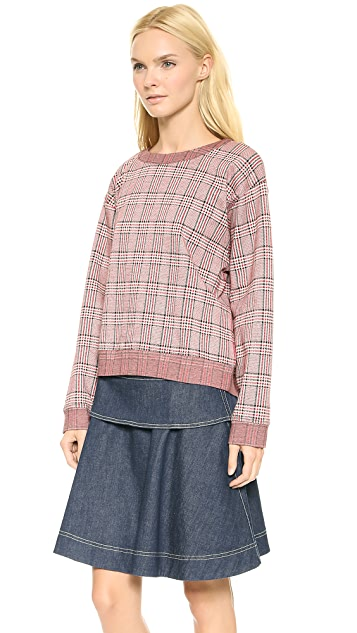 See by Chloe Plaid Top