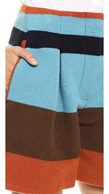 See by Chloe Colorblock Shorts