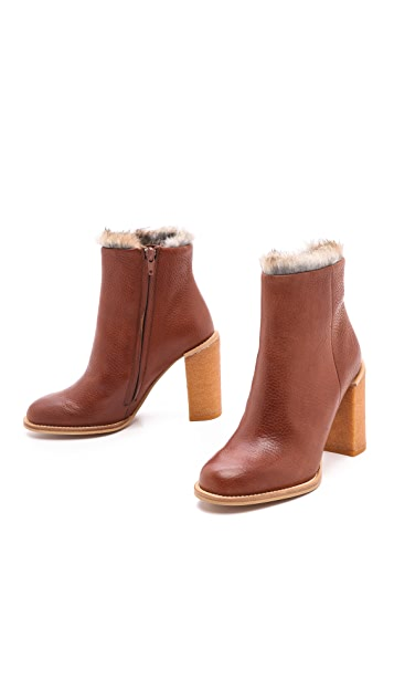 See by Chloe Keyra Short Booties with Fur Lining