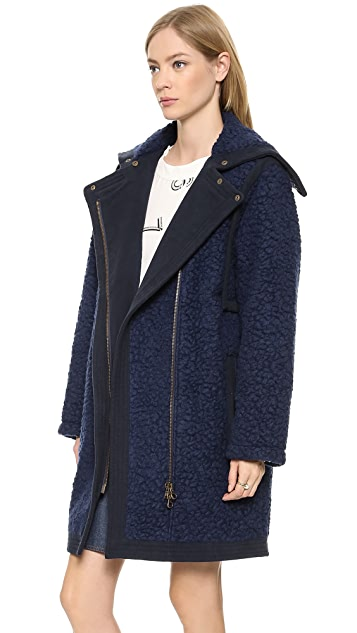 See by Chloe Fur Effect Coat