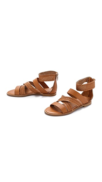 See by Chloe Star Perforated Gladiator Sandals