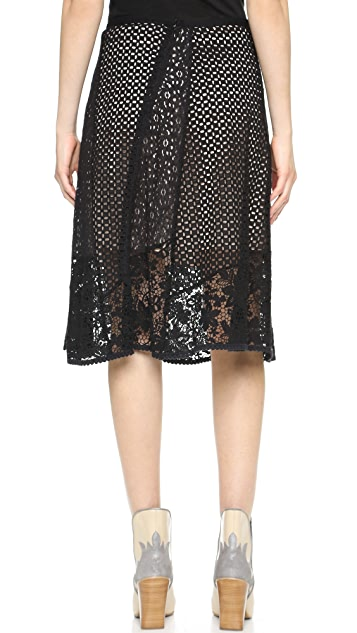 See by Chloe Lace Skirt