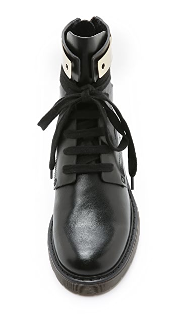 See by Chloe Cutout Combat Booties