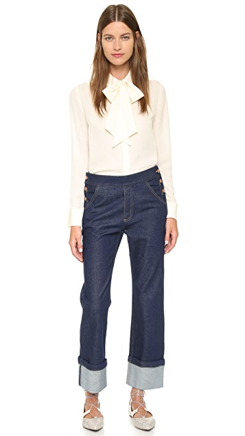 See by Chloe Cuffed Jeans