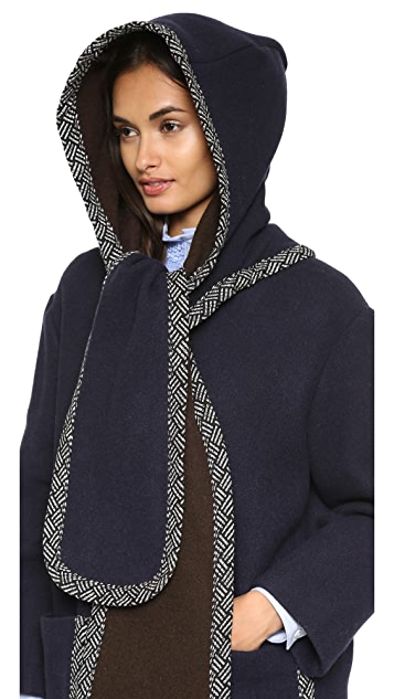 See by Chloe Hooded Scarf Coat