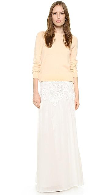 d8e5ebc3 Lace Detail Maxi Skirt