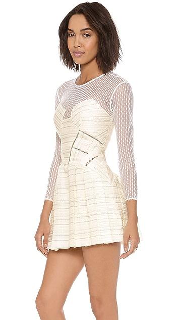 Self Portrait Panelled Long Sleeve Dress