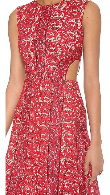 Self Portrait Starlet Midi Dress