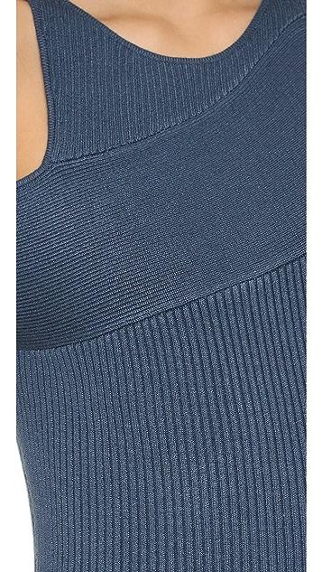 Self Portrait Wrap Effect Knit Dress