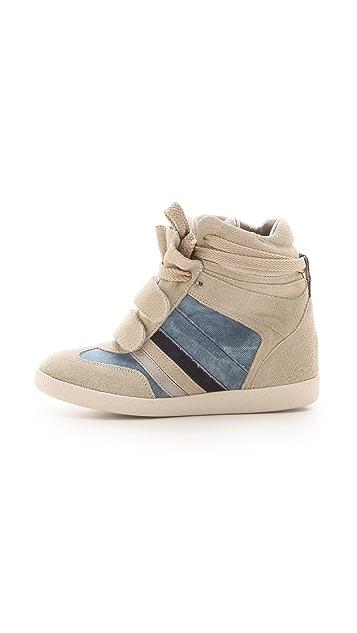Serafini Manhattan Wedge Sneakers with Denim