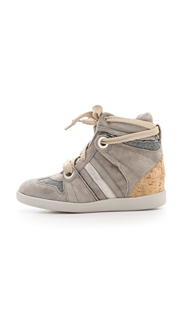 Serafini Manhattan Cork Wedge Sneakers