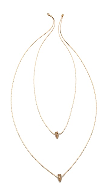 serefina Double Spike Chain Necklace