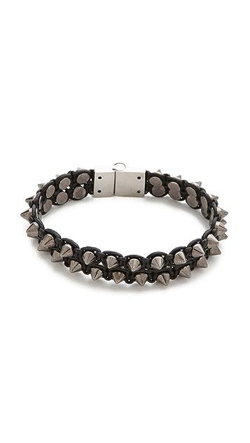 serefina Spike & Leather Luxe Bracelet