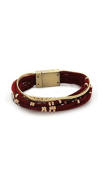 serefina Suede Magnetic Cuff Bracelet