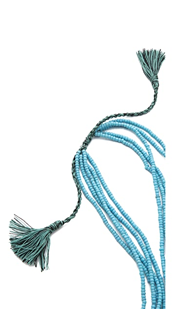 serefina Beaded Layer Tassel Necklace