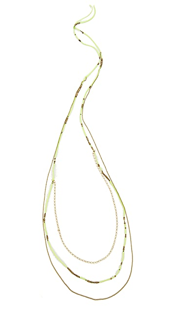 serefina Long Layered Bead Necklace