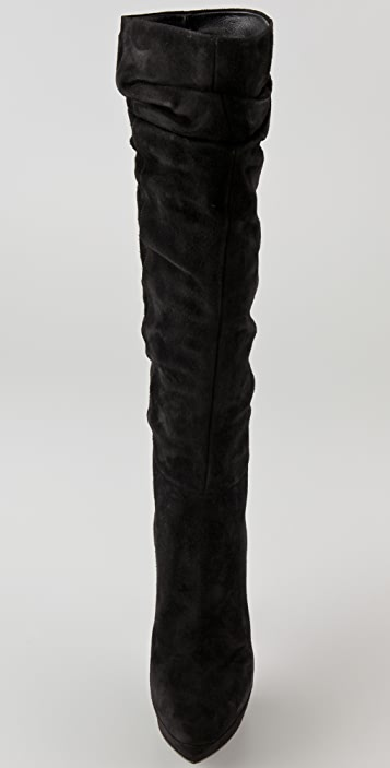 Sergio Rossi Suede Platform Boots