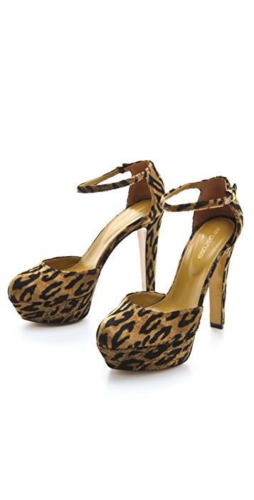 Sergio Rossi Miladys Leopard Velvet Pumps