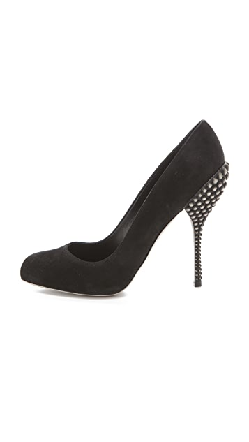 Sergio Rossi Byzance Studded Heel Single Sole Pump