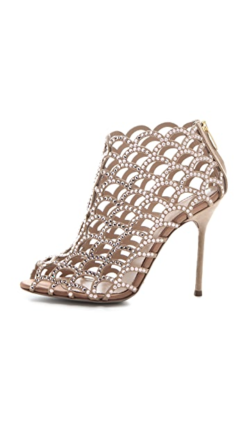 Sergio Rossi Mermaid Swarovski Crystal Booties