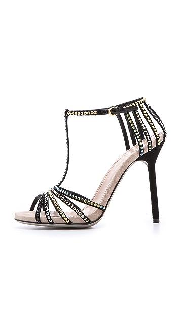 Sergio Rossi Strass T-Strap Sandals