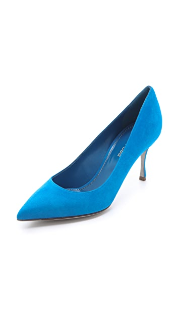 Sergio Rossi Blue Suede Pumps