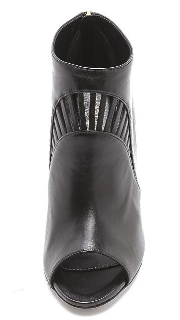 Sergio Rossi Peep Toe Cutout Booties