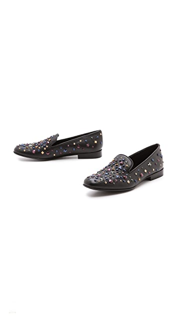 Sergio Rossi Studded Flats