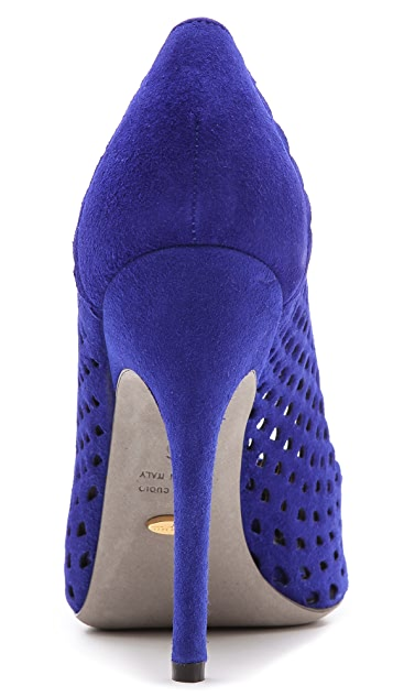 Sergio Rossi Suede Uncovered Pumps