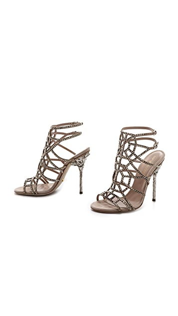Sergio Rossi Puzzle Evening Sandals
