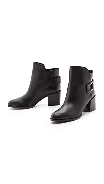 Sergio Rossi Saddle Booties