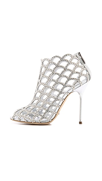 Sergio Rossi Mermaid Cage Booties