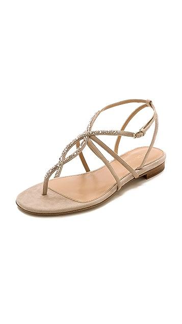 Sergio Rossi Suede & Crystal Sandals