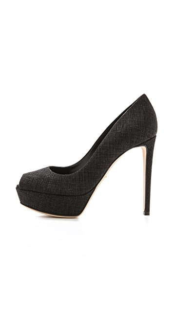 Sergio Rossi Open Toe Pumps