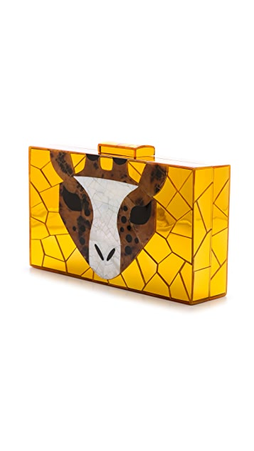 Serpui Marie Giraffe Friends Clutch