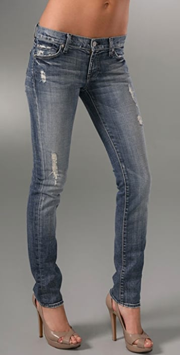 7 For All Mankind Roxanne Slimmer Skinny Jeans with Studs