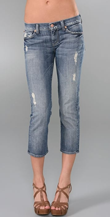 7 For All Mankind Cropped Straight Leg Jeans