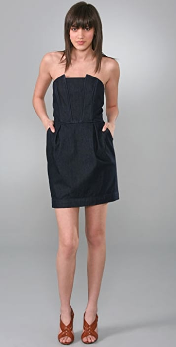 7 For All Mankind Strapless Mini Dress
