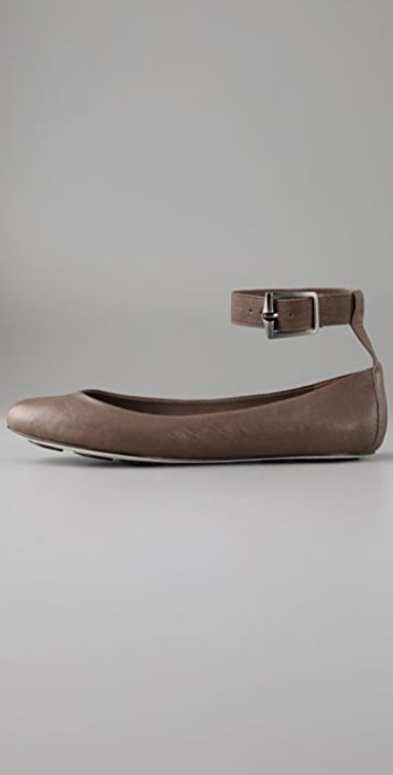 7 For All Mankind Beetle Ballet Flats with Ankle Strap