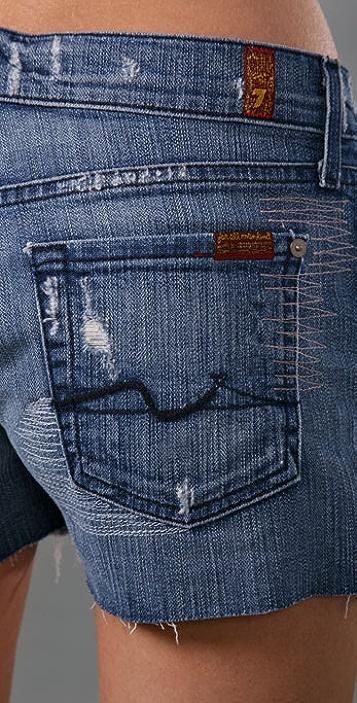 7 For All Mankind Josefina Cutoff Denim Shorts