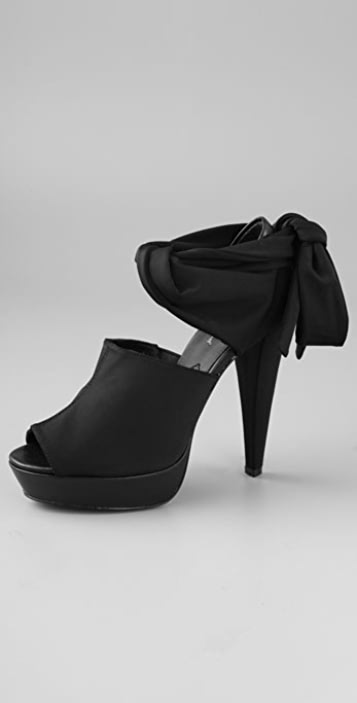 7 For All Mankind Radley Platform Sandals with Ankle Tie