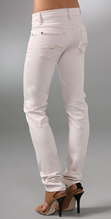 7 For All Mankind Roxanne Twill Skinny Pants
