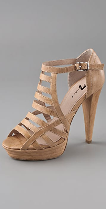 7 For All Mankind Rhett Birdcage Platform Sandals