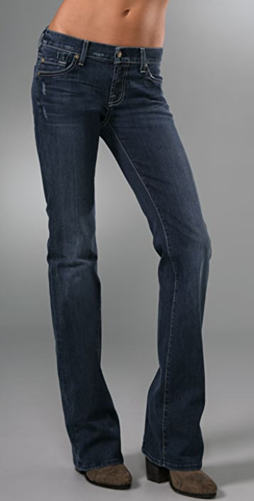 7 For All Mankind Boot Cut Jeans with Off-Register Squiggle