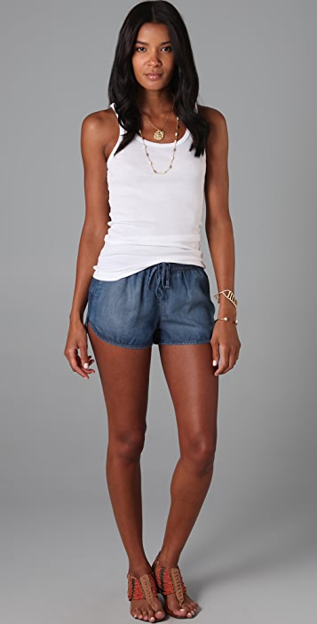 7 For All Mankind Chambray Running Shorts