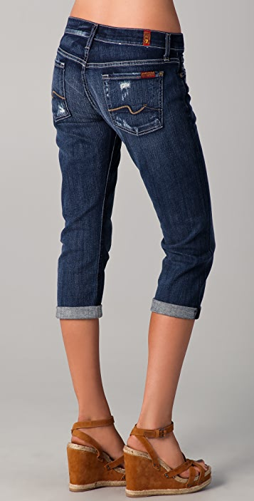 7 For All Mankind Josefina Boyfriend Crop Jeans