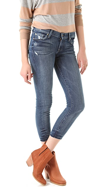 7 For All Mankind Gwenevere Cropped Jeans